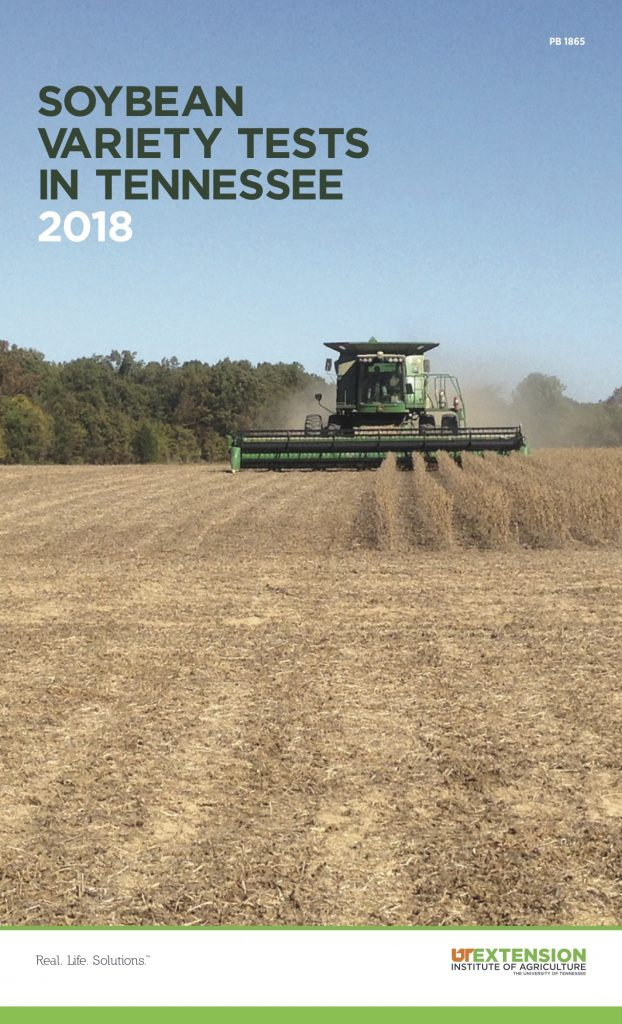 2018 Tennessee Soybean Variety Trials